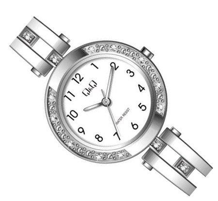 Biżuteryjny zegarek damski Q&Q F639-204
