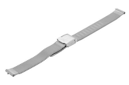 Bransoleta stalowa do zegarka 12 mm Bisset BM-101.12 Silver Mat