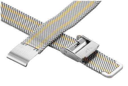 Bransoleta stalowa do zegarka 12 mm Bisset BM-101.12 TT Gold