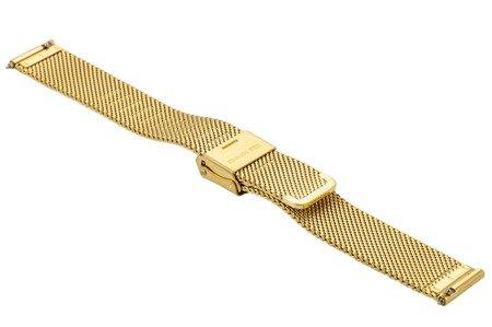 Bransoleta stalowa do zegarka 14 mm Bisset BM-101/14 Gold