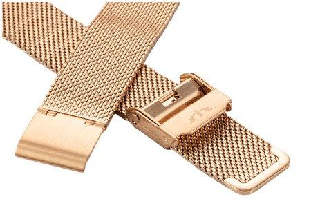 Bransoleta stalowa do zegarka 14 mm Bisset BM-101/14 Rose Gold