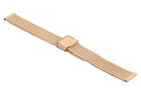 Bransoleta stalowa do zegarka 14 mm Bisset BM-108/14 Rose Gold