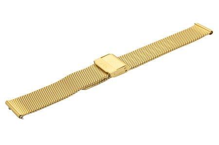 Bransoleta stalowa do zegarka 16 mm Bisset BM-101/16 Gold Mat