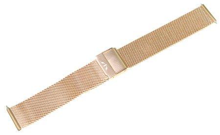 Bransoleta stalowa do zegarka 16 mm Bisset BM-101/16 Rose Gold