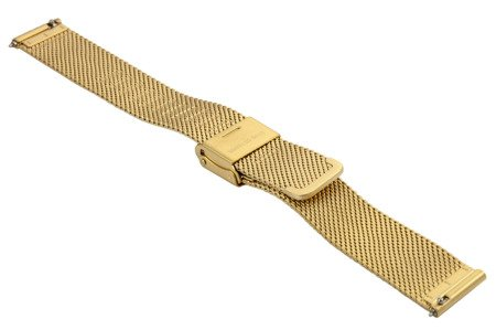 Bransoleta stalowa do zegarka 16 mm Bisset BM-103/16 Gold Mat
