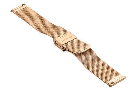 Bransoleta stalowa do zegarka 16 mm Bisset BM-103/16 Rose Gold