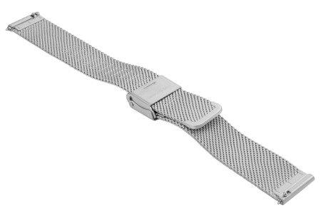 Bransoleta stalowa do zegarka 16 mm Bisset BM-103/16 Silver Mat