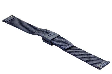 Bransoleta stalowa do zegarka 16 mm Bisset BM-104/16 Blue
