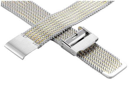 Bransoleta stalowa do zegarka 16 mm Bisset BM-104/16 TT Gold