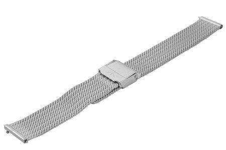 Bransoleta stalowa do zegarka 16 mm Bisset BM-105/16 Silver Mat