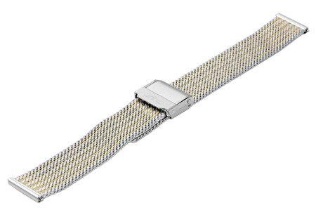 Bransoleta stalowa do zegarka 16 mm Bisset BM-105/16 TT Gold