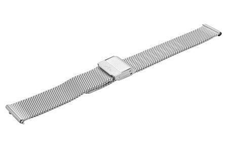 Bransoleta stalowa do zegarka 18 mm Bisset BM-101/18 Silver Mat