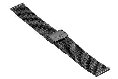 Bransoleta stalowa do zegarka 18 mm Bisset BM-105/18 Black