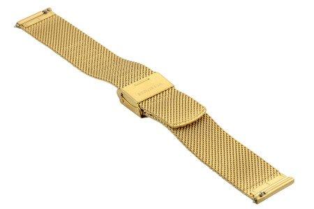 Bransoleta stalowa do zegarka 18 mm Bisset BM-105/18 Gold Mat