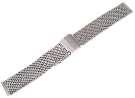 Bransoleta stalowa do zegarka 18 mm Tekla BG1.18 Silver