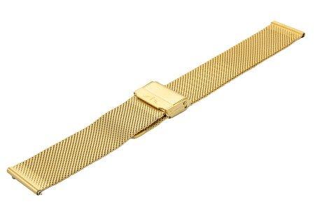 Bransoleta stalowa do zegarka 20 mm Bisset BM-101/20 Gold Mat