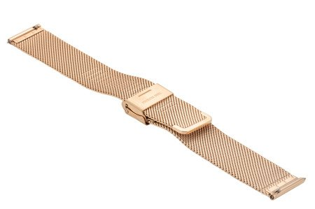 Bransoleta stalowa do zegarka 20 mm Bisset BM-101/20 Rose Gold
