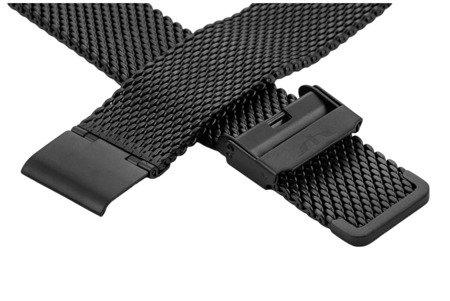 Bransoleta stalowa do zegarka 20 mm Bisset BM-102/20 Black Mat