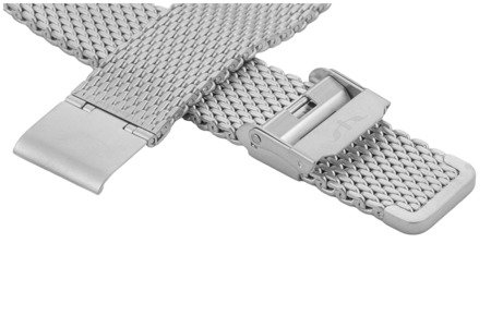 Bransoleta stalowa do zegarka 20 mm Bisset BM-102/20 Silver Mat