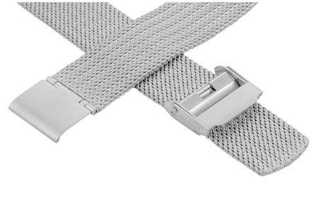 Bransoleta stalowa do zegarka 20 mm Bisset BM-105/20 Silver Mat