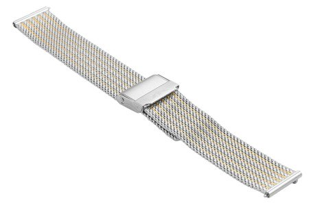 Bransoleta stalowa do zegarka 20 mm Bisset BM-105/20 TT Gold