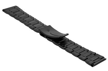 Bransoleta stalowa do zegarka 22 mm BR-120/22 Black Mat