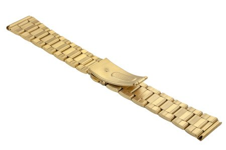Bransoleta stalowa do zegarka 22 mm BR-120/22 Gold Mat