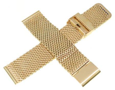 Bransoleta stalowa do zegarka 22 mm Tekla BG2.22 Gold