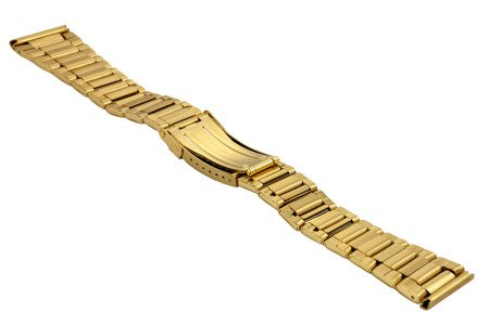 Bransoleta stalowa do zegarka 24 mm BR-122/24 Gold