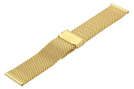 Bransoleta stalowa do zegarka 24 mm Bisset BM-102/24 Gold