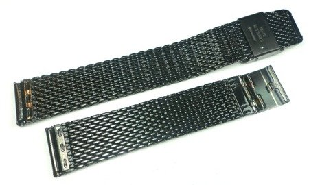 Bransoleta stalowa do zegarka Diloy MESH10-18-BL 18 mm