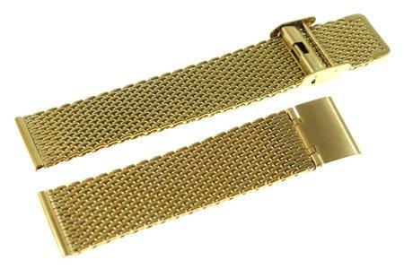 Bransoleta stalowa do zegarka Diloy MESH10-22-G 22 mm