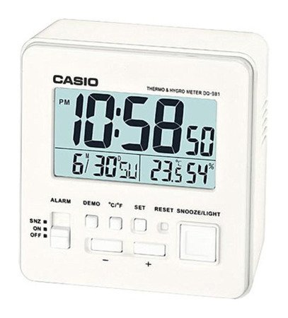 Budzik Casio DQ-981-7ER Termometr Higrometr