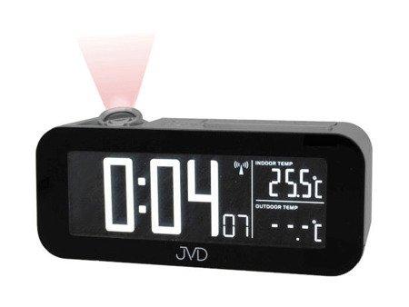 Budzik JVD RB93.1 z projektorem, Termometr, DCF77