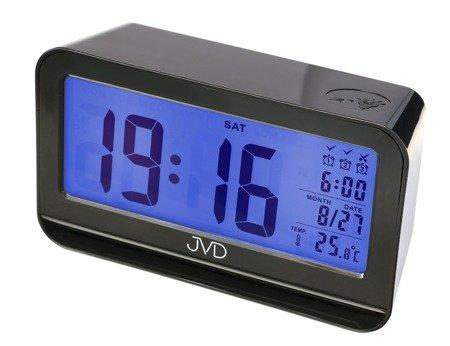 Budzik JVD SB130.2 Termometr, Sensor Light, 3 alarmy