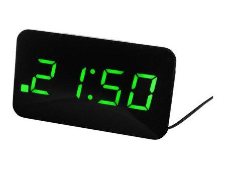 Budzik JVD SB24.3 Dwa alarmy, ładowarka USB