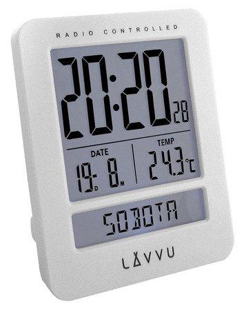 Budzik LAVVU LAR0020 Termometr DCF77 Dni Tygodnia PL