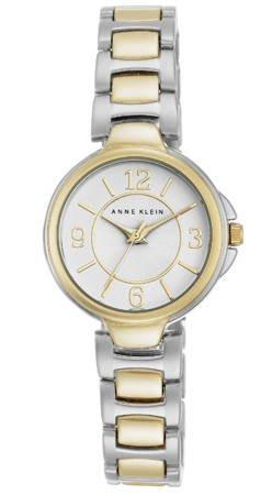 Klasyczny zegarek Anne Klein AK/2431WTTT Silver Gold