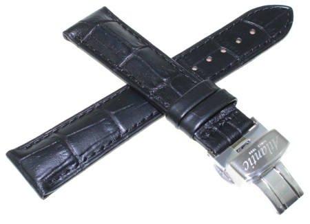 Pasek do zegarka Atlantic 20 mm czarny