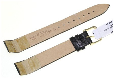Skórzany wodoodporny pasek do zegarka 15 mm HIRSCH Diamond 14100250-1-15OE