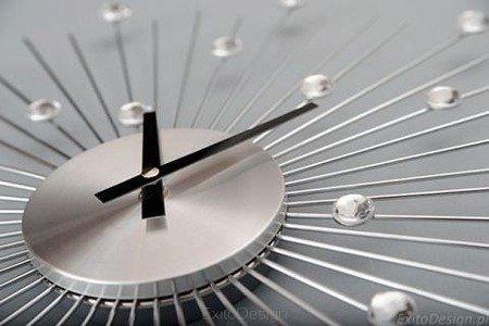 Zegar ścienny ExitoDesign HS-045M Kryształki średnica 50 cm