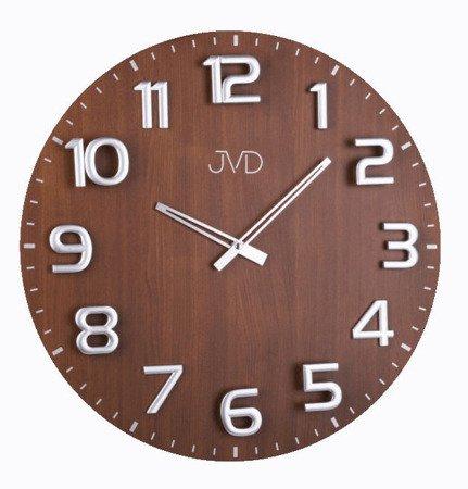Zegar ścienny JVD HT075.2 Drewniany, średnica 49 cm