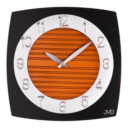 Zegar ścienny JVD N11043B Szkło-drewno