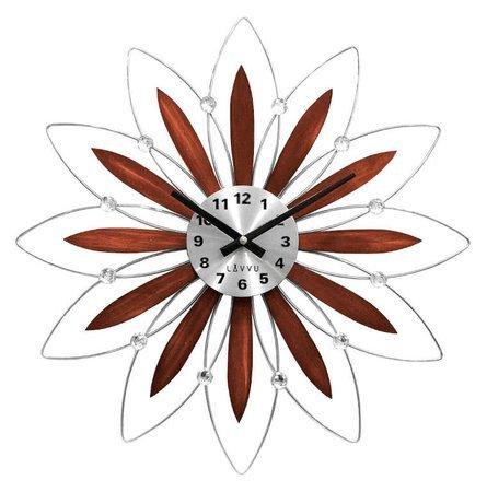 Zegar ścienny LAVVU LCT1114 z kryształkami, średnica 49,5 cm