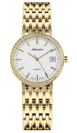 Zegarek Adriatica A3445.1113QZ Biżuteryjny Cyrkonie