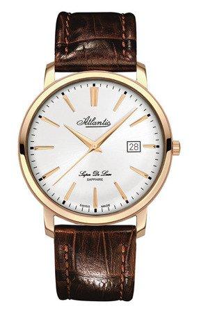 Zegarek Atlantic Super De Luxe 64351.44.21 Rose Gold Szafir
