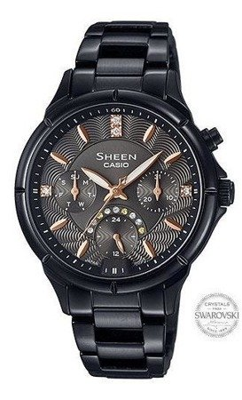 Zegarek Casio SHE-3047B-1AUER Sheen LED Swarovski MultiData
